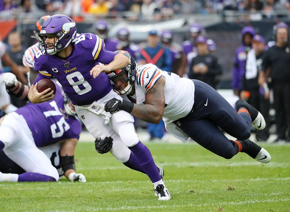 The defense is there. The skill players are there. The problem in Minnesota clearly resides under center. (Getty)