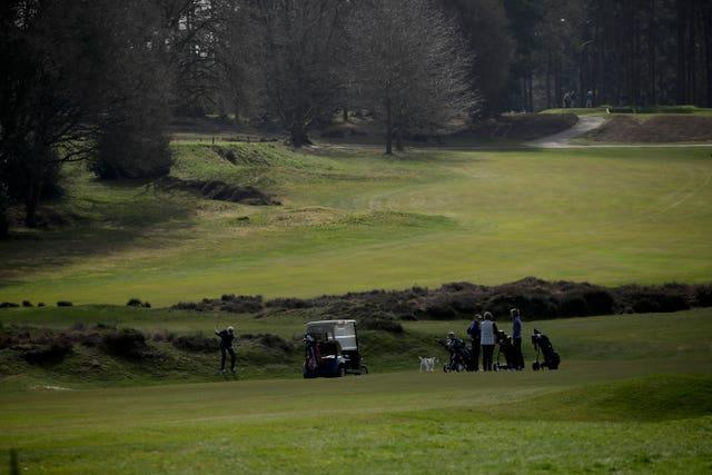 Golf action on the Old Course at Sunningdale Golf Club