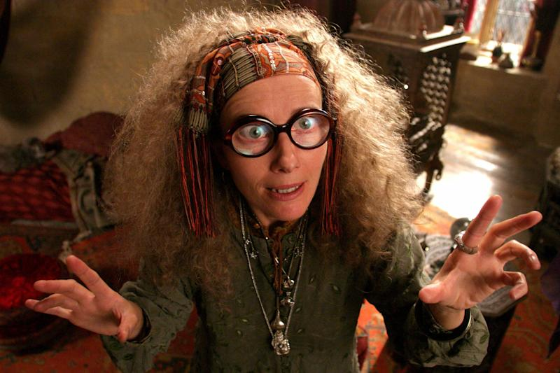 For such a batty side character, Sybill Trelawney played a gigantic role in Harry Potter's fate. It's only fitting that her hair was proportionally gigantic. The series <i>is </i>set in the '90s, after all, so of course the kookiest divination professor on the block was still basking in perm-happy days of the preceding decade. Her aura is pulsing.