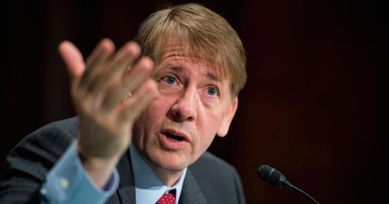 Justice Department files brief saying consumer watchdog agency's structure is unconstitutional