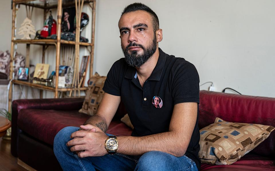 Gilbert was on a video call to his fiancée when she died in the Beirut blast. 'I cannot move forward,' he says (Bel Trew)
