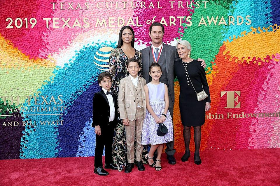 """<p><strong>Children</strong>: Levi Alves McConaughey (11), Vida Alves McConaughey (10), Livingston Alves McConaughey (7)</p><p>Since 2012, the 50-year-old actor has been <a href=""""https://www.oprahmag.com/entertainment/a27131284/matthew-mcconaughey-wife-camila-alves/"""" rel=""""nofollow noopener"""" target=""""_blank"""" data-ylk=""""slk:married to Camila Alves"""" class=""""link rapid-noclick-resp"""">married to Camila Alves</a> and is raising three children, while still taking time to <a href=""""https://www.oprahmag.com/entertainment/a31742486/matthew-mcconaughey-coronavirus-video-message/"""" rel=""""nofollow noopener"""" target=""""_blank"""" data-ylk=""""slk:spread calming messages to his social media followers"""" class=""""link rapid-noclick-resp"""">spread calming messages to his social media followers</a> amid a pandemic.</p>"""