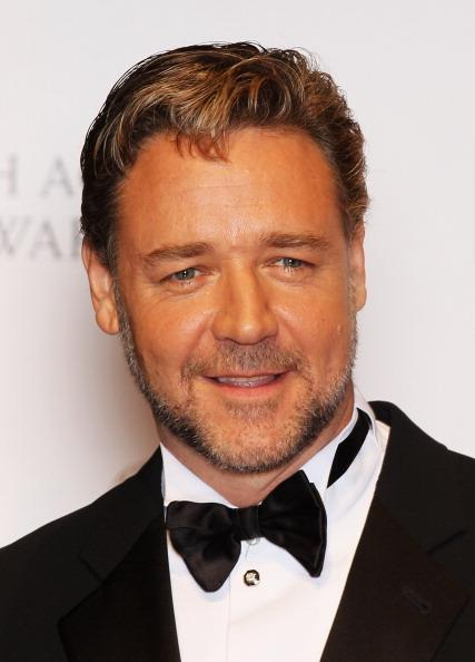 Actor Russell Crowe poses in the press room during the Orange British Academy Film Awards 2012 at the Royal Opera House on February 12, 2012 in London, England. (Photo by Chris Jackson/Getty Images)