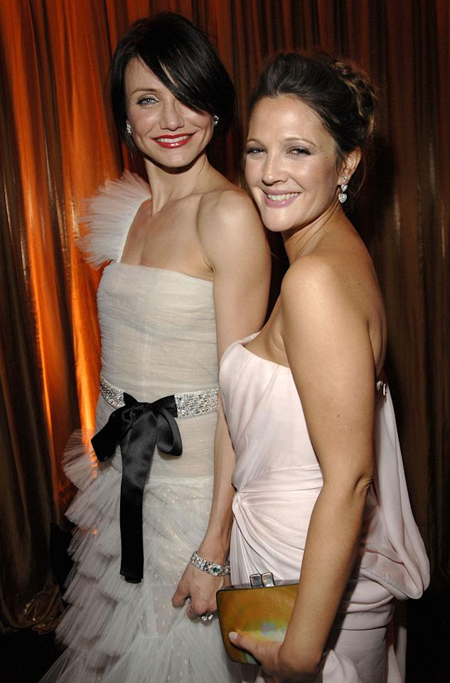 """<a href=""""/cameron-diaz/contributor/29788"""">Cameron Diaz</a> and <a href=""""/drew-barrymore/contributor/29569"""">Drew Barrymore</a> at the In Style and Warner Bros. 2007 Golden Globe After Party."""