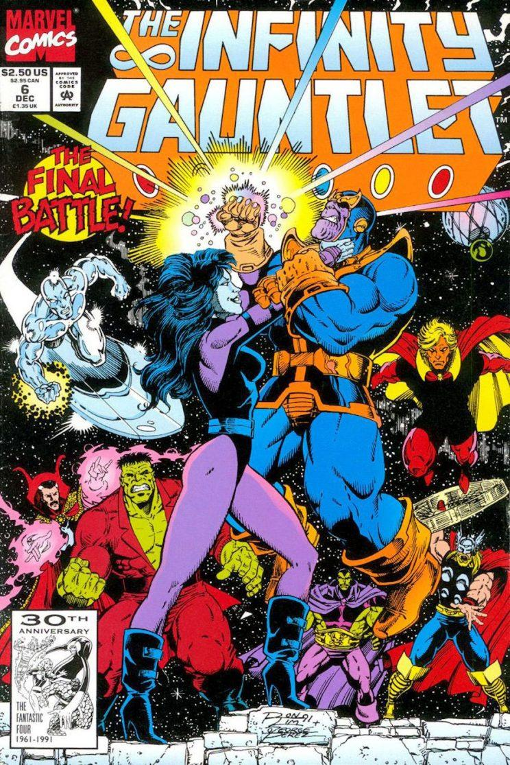 The Infinity Gauntlet Marvel Comics Nebula Thanos.