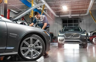 A student trains hands-on in the Volvo Service Automotive Factory Education (SAFE) program exclusively offered at Universal Technical Institute.