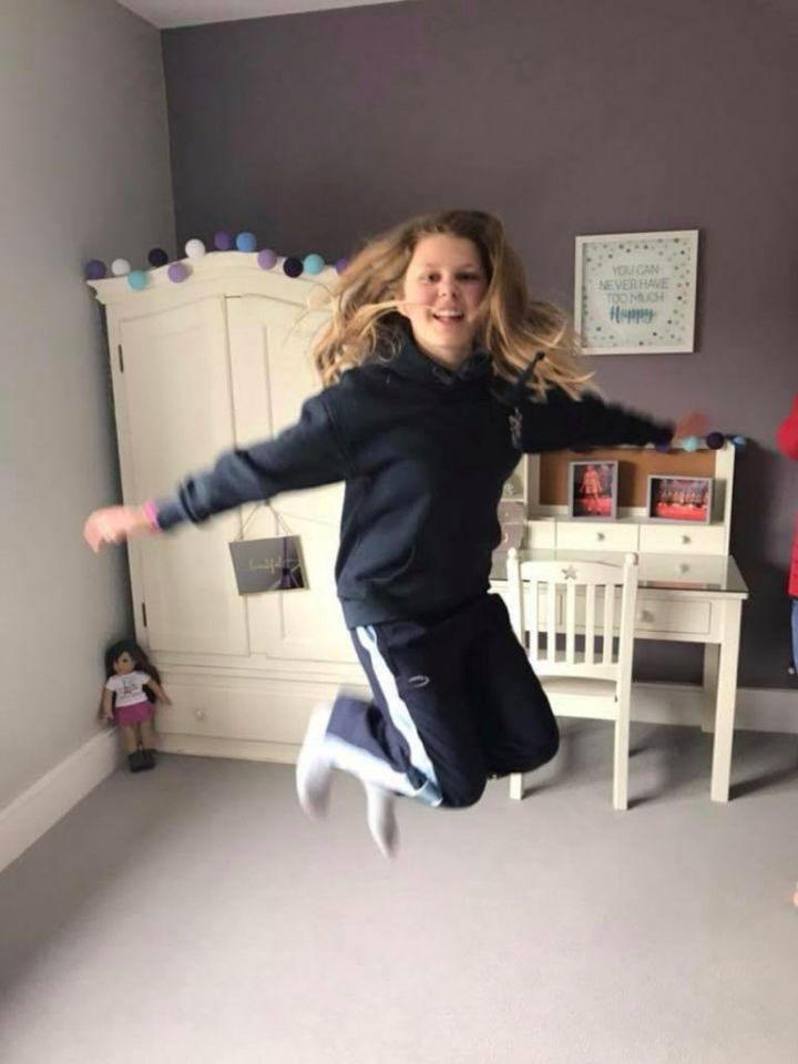 Grace Havens, 13, was 'fun and energetic' before she became ill. Source: SWNS