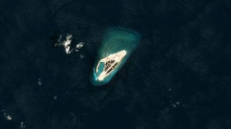 Satellite photo shows Vietnamese-controlled Spratly Island in the South China Sea October 7, 2017. Planet Labs/Handout via REUTERS