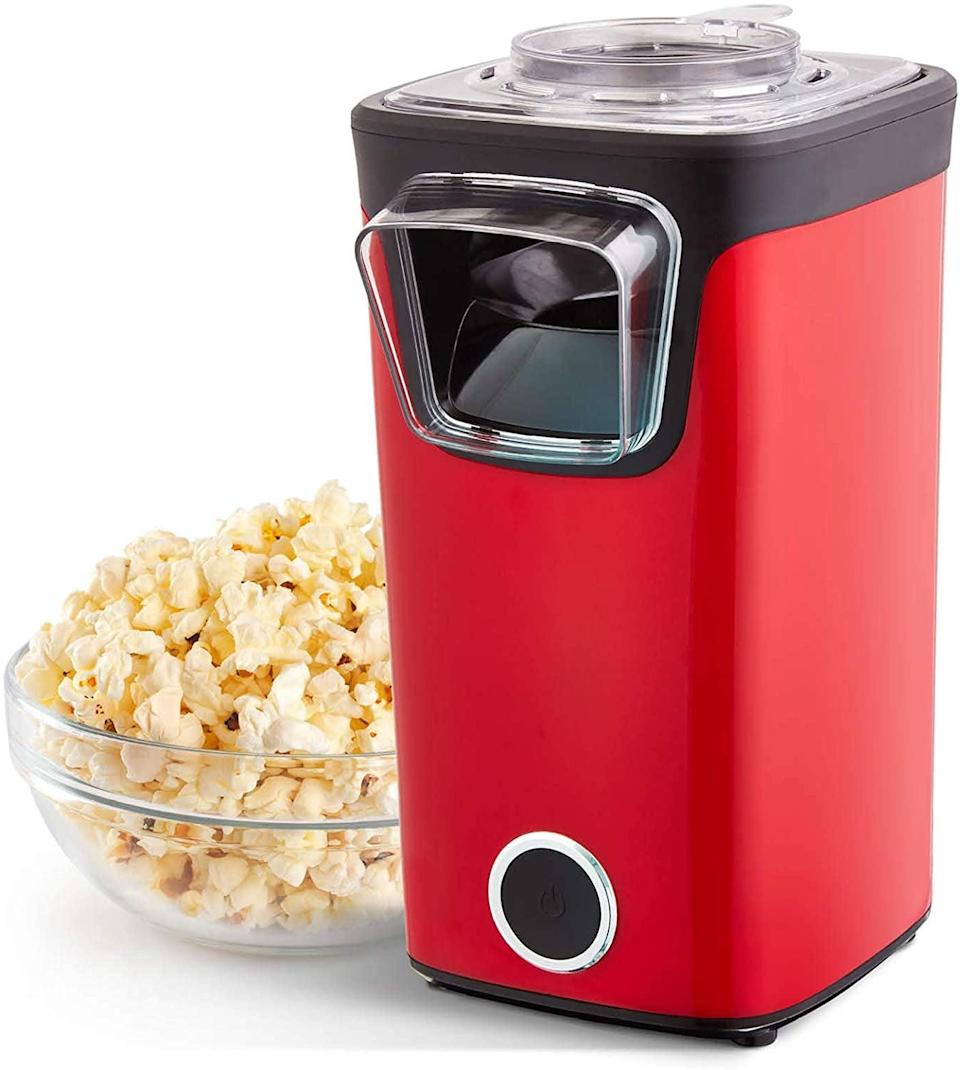 <p>Level up your movie nights at home with the <span>Dash Turbo POP Popcorn Maker</span> ($30). It comes with a measuring cup for kernels and to melt butter and add toppings.</p>