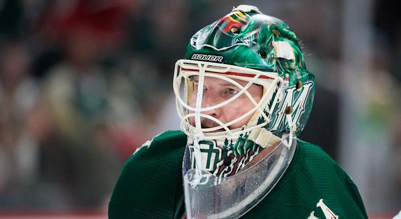 It's been a difficult week for Devan Dubnyk, Minnesota's starting goaltender, and his family. (Photo by Hannah Foslien/Getty Images)