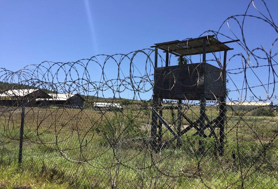 (FILES) In this file photo the US military's  Camp X-Ray is viewed at Guantanamo Bay Naval base on March 9, 2016, in Guantanamo Bay, Cuba.  The prosecution of alleged September 11 mastermind Khalid Sheikh Mohammed and four others restarts on September 7, 2021, just days before the 20th anniversary of the attacks, stirring new hopes for justice and retribution. Mohammed and his co-defendants, who have been locked up at the