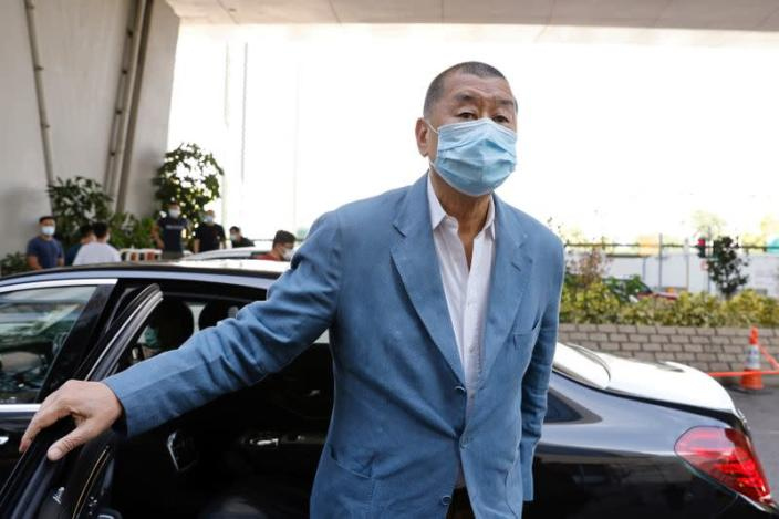 FILE PHOTO: Media mogul Jimmy Lai Chee-ying at West Kowloon Courts in Hong Kong