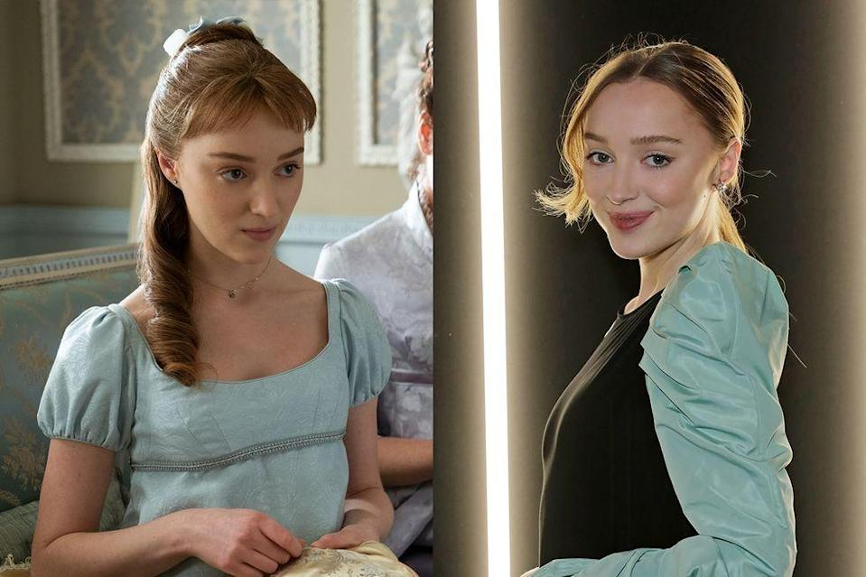 <p>Phoebe Dynevor, best known as <em>Younger</em>'s Clare, plays Daphne Bridgerton, the first Bridgerton daughter to enter the marriage market.</p>
