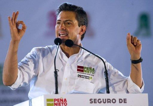 Mexican presidential candidate for the Institutional Revolutionary Party (PRI), Enrique Pena Nieto