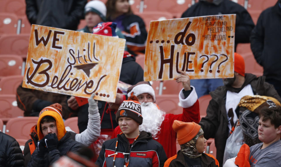 A man's cheeky obituary blamed the Cleveland Browns' sad state for hastening his death. (AP)
