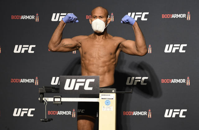 One day before UFC 249, Ronaldo Souza tested positive for the coronavirus. (Mike Roach/Zuffa LLC)