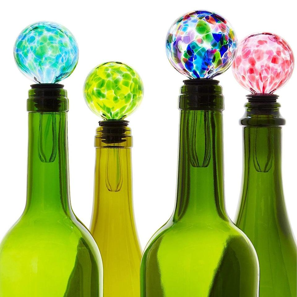 <p>Save unfinished wine bottles the proper way with the <span>Birthstone Wine Bottle Stopper</span> ($24).</p>