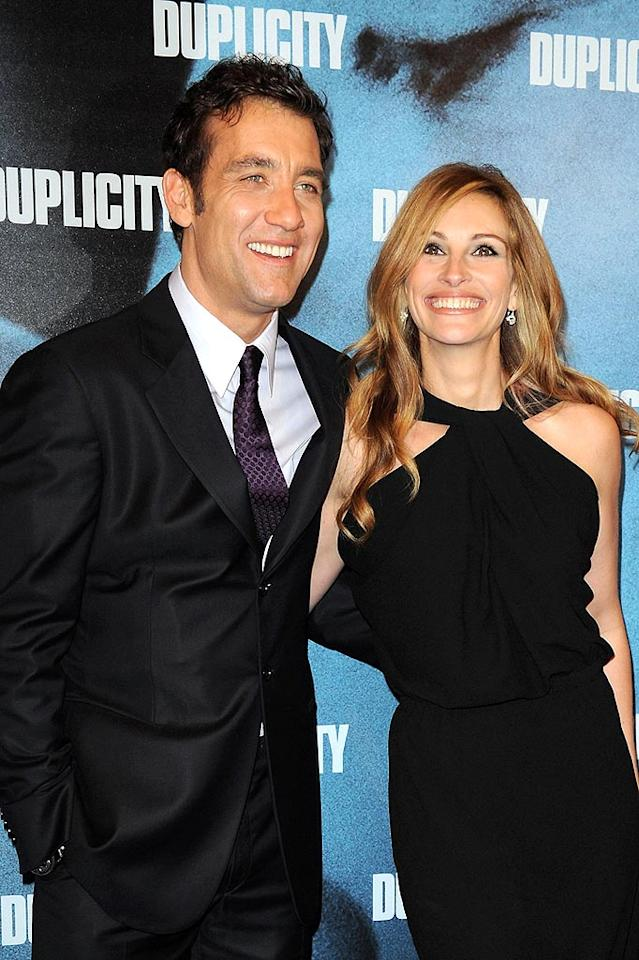 "Another dapper duo -- Clive Owen and Julia Roberts -- hit the red carpet for the premiere of ""Duplicity"" in Paris on Thursday. Pascal Le Segretain/<a href=""http://www.gettyimages.com/"" target=""new"">GettyImages.com</a> - March 12, 2009"