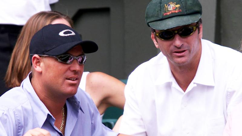 Shane Warne and Steve Waugh, pictured here at Wimbledon in 2000.