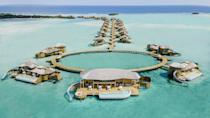 """<p>This South Asian archipelago is often considered the home of the world's best beach thanks to its immaculate waters, white-sand beaches, and miles of dreamy coconut palms. This nation of islands is also home to some of the world's best luxury resort properties.</p><p><a href=""""https://soneva.com/"""" rel=""""nofollow noopener"""" target=""""_blank"""" data-ylk=""""slk:Soneva Resorts"""" class=""""link rapid-noclick-resp"""">Soneva Resorts</a> arguably offer the best stays in the Maldives with spacious, overwater retreats, unique experiences, and lavish dining establishments.</p>"""