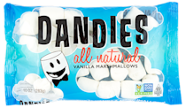 <p>These gelatin-free stretchy and delicious marshmallows are great for melting into S'mores, roasting, or eating out of the bag. Made without high-fructose corn syrup they are the first marshmallows to be non-GMO project verified. They currently have decadent pumpkin marshmallows just for Halloween. </p>