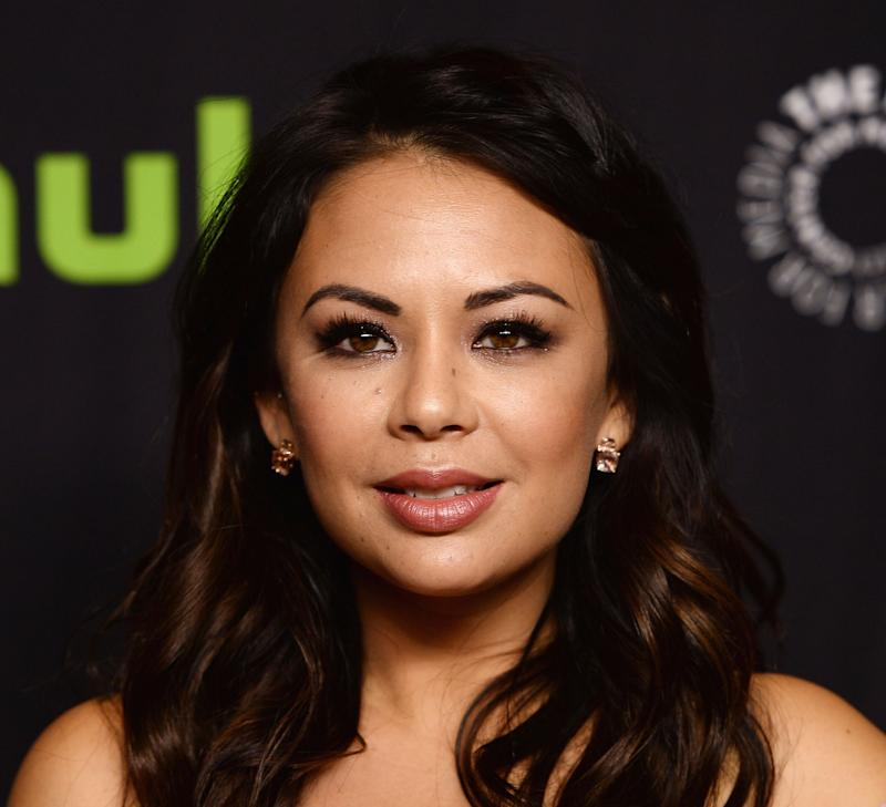 "Janel Parrish at a PaleyFest screening of ""Pretty Little Liars."""