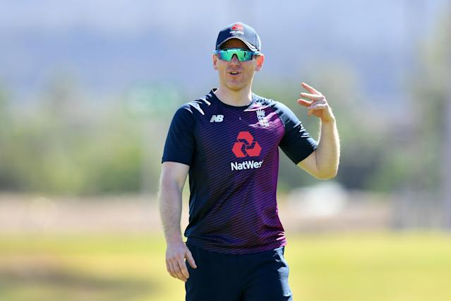 Eoin Morgan of England looks on. (Photo by Dan Mullan/Getty Images)
