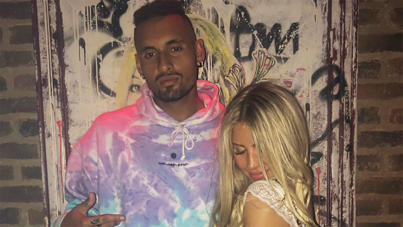 Nick Kyrgios, pictured with Beatrice Bouchard, has a long-running friendship with her and sister Eugenie.