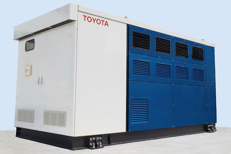 toyota uses hydrogen fuel cells to power a factory cell generator