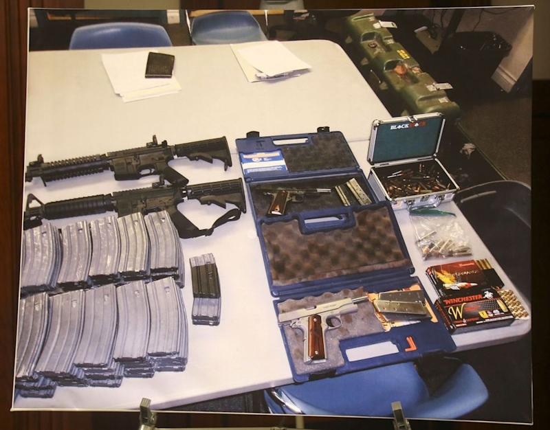 Weapons discovered at the student's home