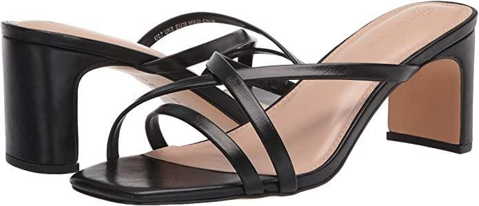 <p>You can't go wrong with these timeless <span>The Drop Women's Amelie Strappy Square Toe Heeled Sandal</span> ($50) for the summer.</p>