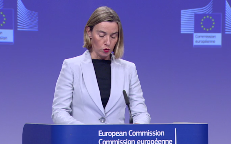 EU High Representative of the Union for Foreign Affairs Federica Mogherini: EbS