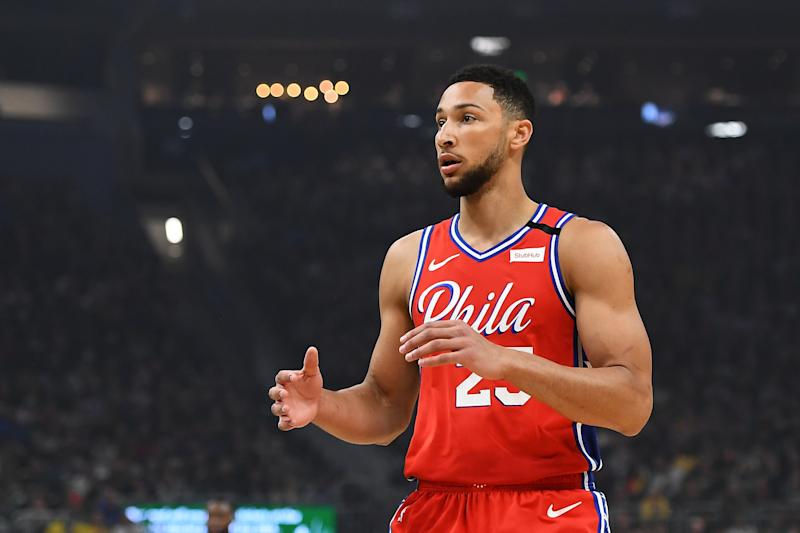 Sixers star Ben Simmons will miss more time with a lower back injury. (Stacy Revere/Getty Images)