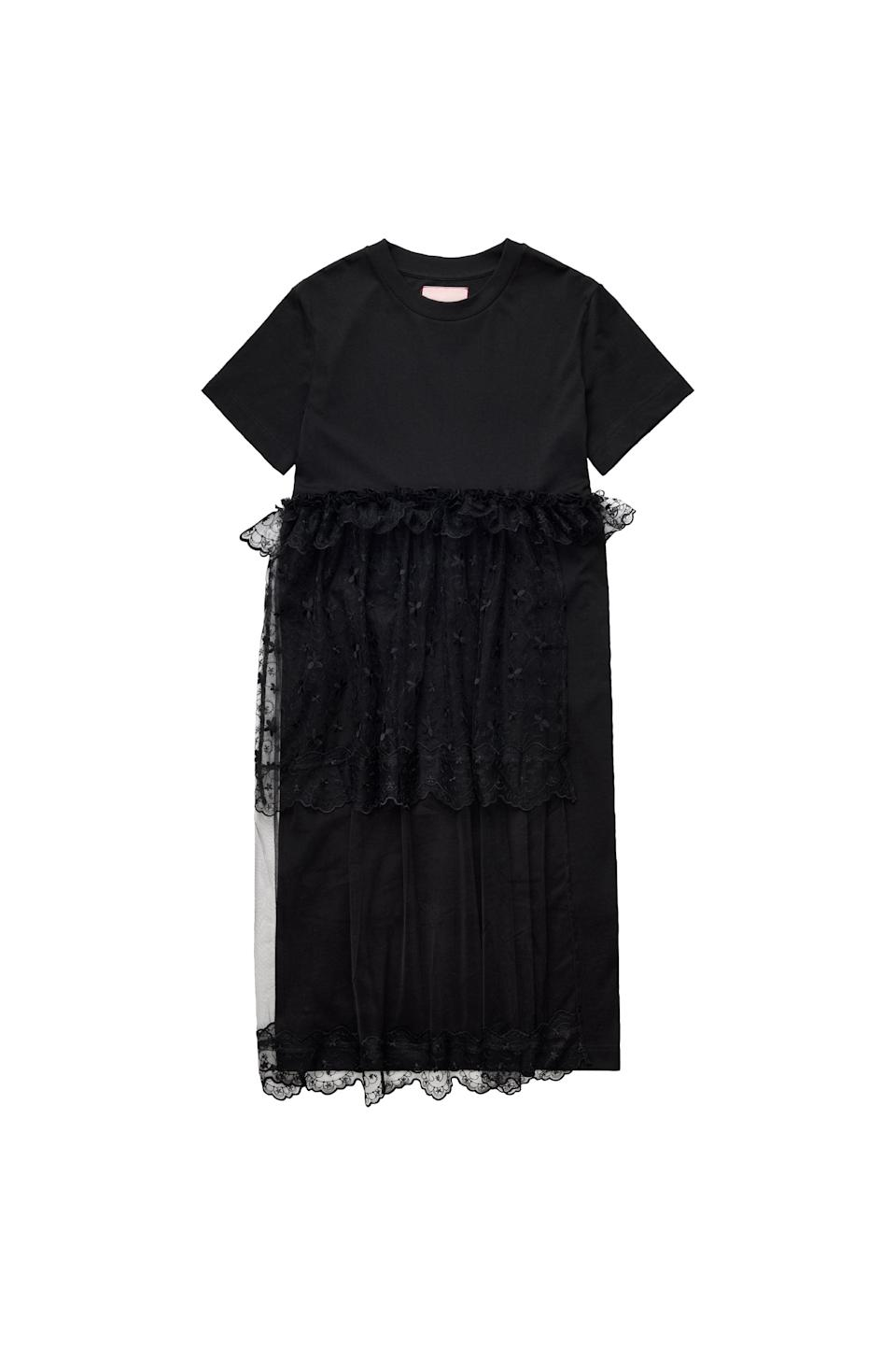 <p><span>Simone Rocha x H&amp;M Tulle-Detail T-Shirt Dress</span> ($99).</p>