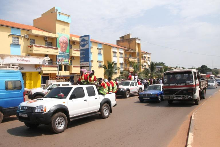 Election posters are up in Bissau and dotted along roadsides ahead of Sunday's presidential poll (AFP Photo/-)