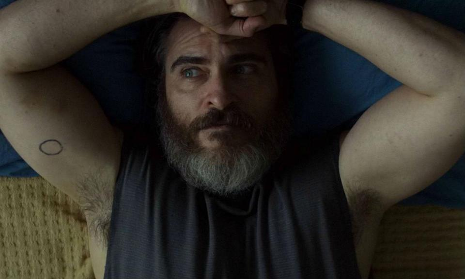 <p>Absolutely gripping film from Lynne Ramsey featuring Joaquin Phoenix's best performance yet. It's a tense thriller and a character study of grief, loss, and the lasting traumas of war. Spellbinding. (Scott J Davis) </p>