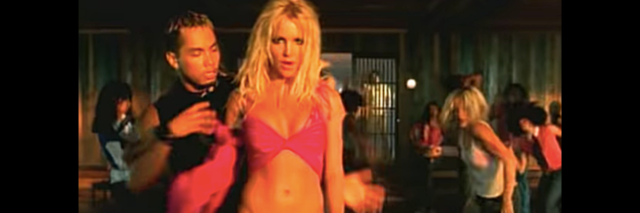 Britney Spears from the I'm a Slave 4 U music video