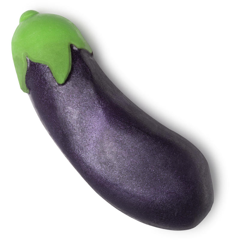 Check out this sparkly aubergine. [Photo: Lush]
