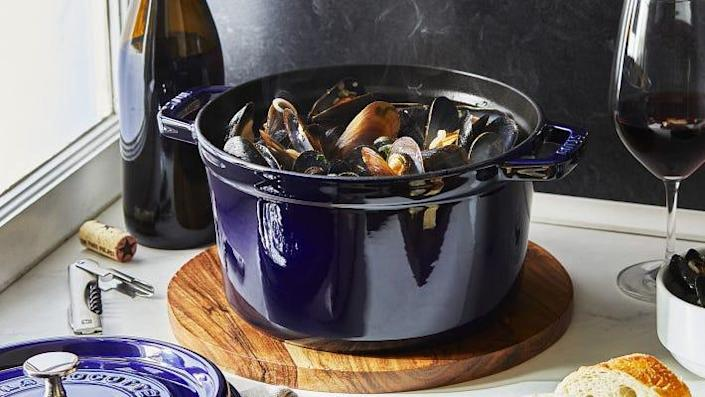 Staub's deeper version of its classic cocotte is perfect for stews, soups and soufflés.