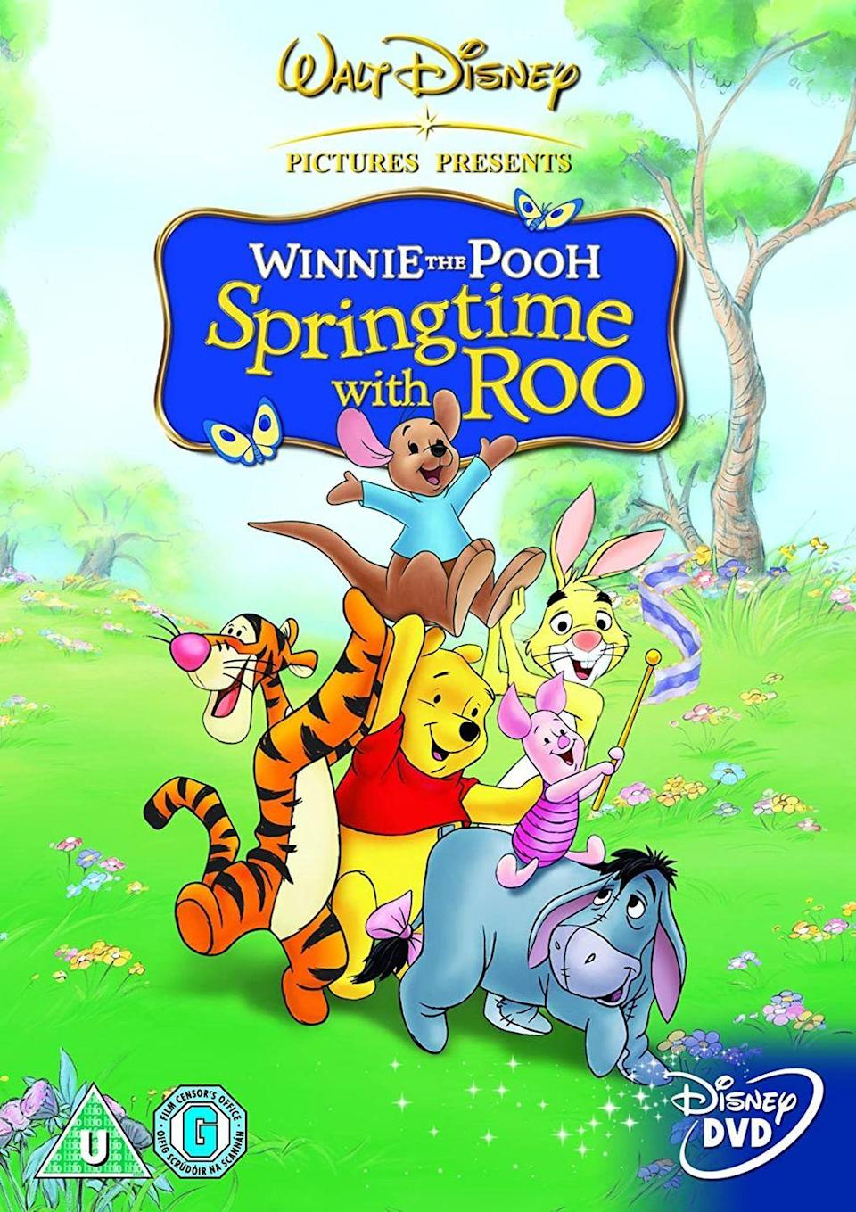"""<p>Based on the original characters from the A. A. Milne book series, this animated movie follows Roo, Tigger, Pooh, Piglet, and Eeyore as they convince Rabbit to join their Easter celebration. </p><p><a class=""""link rapid-noclick-resp"""" href=""""https://go.redirectingat.com?id=74968X1596630&url=https%3A%2F%2Fwww.disneyplus.com%2Fmovies%2Fwinnie-the-pooh-springtime-with-roo%2F2Aqm3rkSoYKV&sref=https%3A%2F%2Fwww.womansday.com%2Flife%2Fentertainment%2Fg16643651%2Feaster-movies%2F"""" rel=""""nofollow noopener"""" target=""""_blank"""" data-ylk=""""slk:STREAM NOW"""">STREAM NOW</a></p>"""