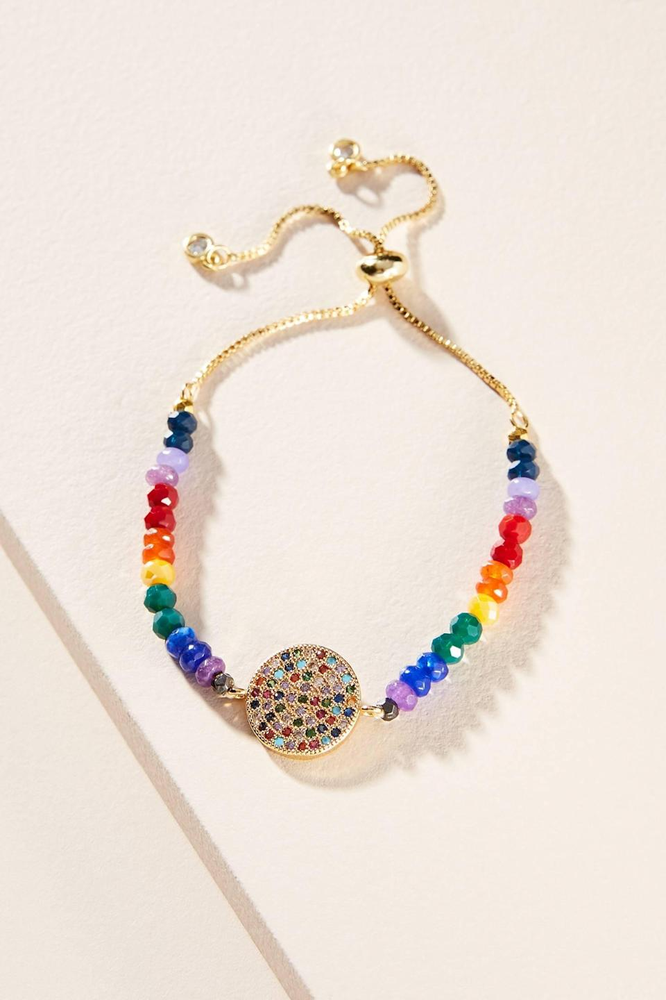 """<p>There are four different versions of this <a href=""""https://www.popsugar.com/buy/Perrie-Charm-Bracelet-519502?p_name=Perrie%20Charm%20Bracelet&retailer=anthropologie.com&pid=519502&price=18&evar1=fab%3Aus&evar9=45574771&evar98=https%3A%2F%2Fwww.popsugar.com%2Ffashion%2Fphoto-gallery%2F45574771%2Fimage%2F47015901%2FPerrie-Charm-Bracelet&list1=shopping%2Cgifts%2Choliday%2Cgift%20guide%2Clast-minute%20gifts%2Cfashion%20gifts%2Cgifts%20for%20women&prop13=api&pdata=1"""" class=""""link rapid-noclick-resp"""" rel=""""nofollow noopener"""" target=""""_blank"""" data-ylk=""""slk:Perrie Charm Bracelet"""">Perrie Charm Bracelet</a> ($18).</p>"""