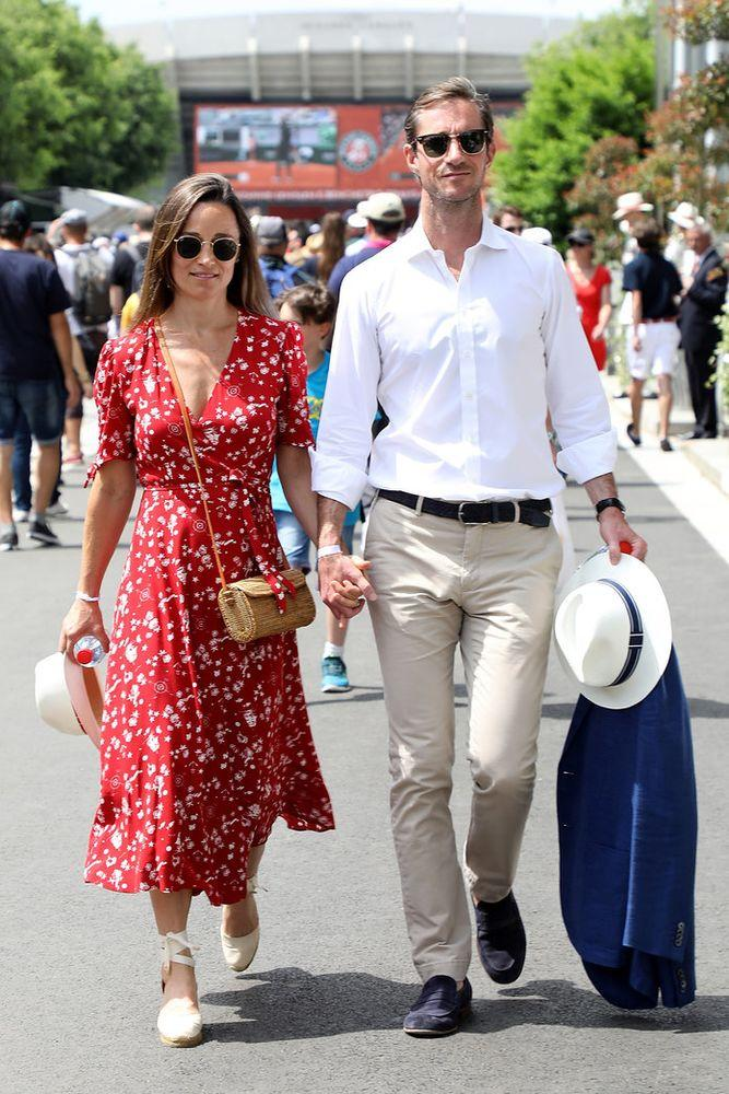 bottom price detailed pictures choose clearance Pippa Middleton Attends the French Open in a Ralph Lauren ...