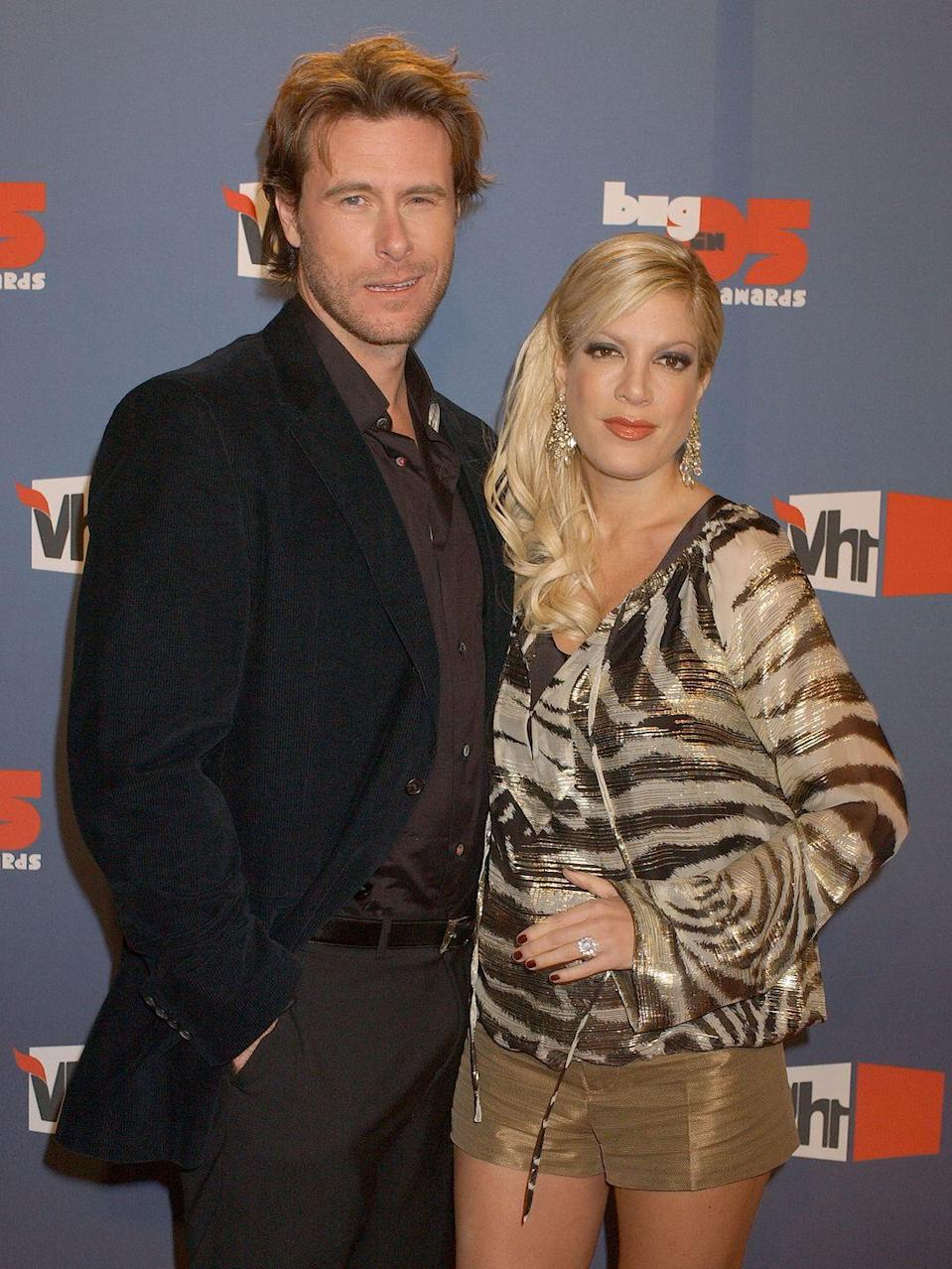 "<p>Both Spelling and McDermott were married when they started their affair. Spelling told <em>Entertainment Tonight</em> that the two <a href=""http://www.etonline.com/tv/152762_tori_spelling_says_she_and_dean_mcdermott_had_sex_the_first_night_they_met"" rel=""nofollow noopener"" target=""_blank"" data-ylk=""slk:had sex the first night they met."" class=""link rapid-noclick-resp"">had sex the first night they met.</a> Their relationship started when they worked together on the TV movie <em>Mind Over Murder.</em></p>"