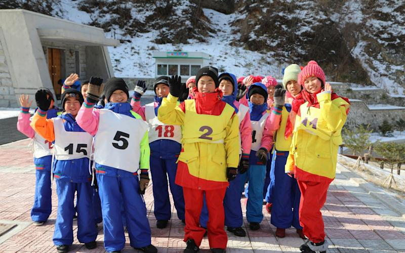 A youth group training at the luxury resort across the border - NK News