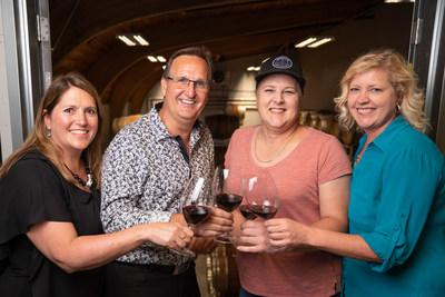 TIME Winery Team: Shelley Mayert, Ron Mayert, Darrien McWatters, Christa-Lee McWatters (CNW Group/Five Vines Cellars)