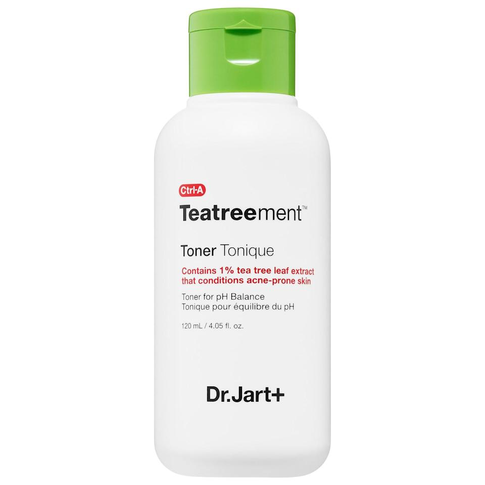 <p>This <span>Dr. Jart+ Teatreement Toner</span> ($30) is a new product from the brand. This purifying toner is best for combination and oily skin.</p>