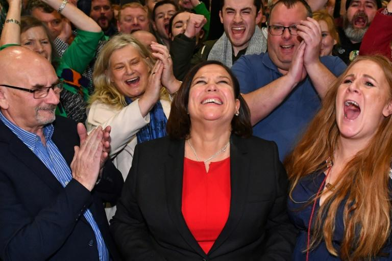 Irish republican party Sinn Fein, led by Mary Lou McDonald, wants a central role in power after a surge in support (AFP Photo/Ben STANSALL)