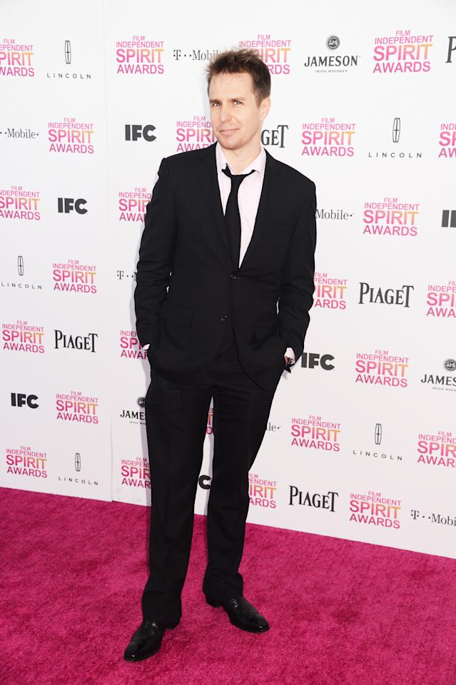 Sam Rockwell attends the 2013 Film Independent Spirit Awards at Santa Monica Beach on February 23, 2013 in Santa Monica, California.