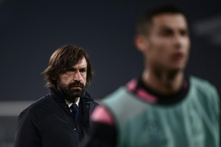 Andrea Pirlo (L) has had an inconsistent first season as Juve coach.