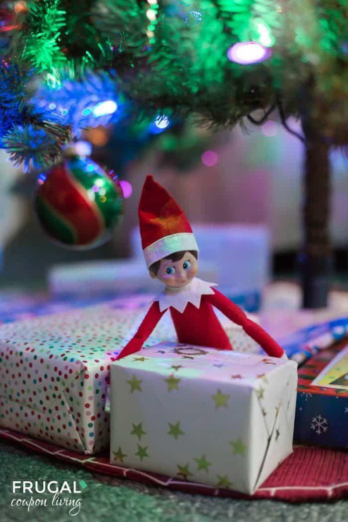 """<p>The fun doesn't have to stop just because your advent calendar ran out of days! On Christmas morning, let the elf help out with gift preparations. </p><p><strong>Get the tutorial at <a href=""""https://www.frugalcouponliving.com/elf-on-the-shelf-ideas-christmas-morning/"""" rel=""""nofollow noopener"""" target=""""_blank"""" data-ylk=""""slk:Frugal Coupon Living"""" class=""""link rapid-noclick-resp"""">Frugal Coupon Living</a>.</strong></p><p><strong><a class=""""link rapid-noclick-resp"""" href=""""https://www.amazon.com/s?k=wrapping+paper&ref=nb_sb_noss_2&tag=syn-yahoo-20&ascsubtag=%5Bartid%7C10050.g.22690552%5Bsrc%7Cyahoo-us"""" rel=""""nofollow noopener"""" target=""""_blank"""" data-ylk=""""slk:SHOP WRAPPING PAPER"""">SHOP WRAPPING PAPER</a></strong></p>"""